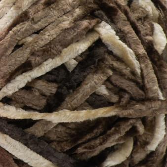 Bernat Coffee Crushed Velvet Yarn (5 - Bulky)