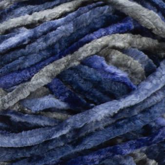 Bernat Navy Crushed Velvet Yarn (5 - Bulky)