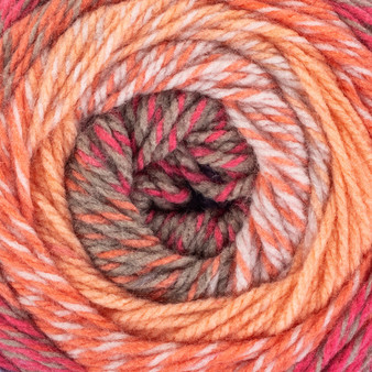 Red Heart Sunset Roll With It Tweed Yarn (4 - Medium)