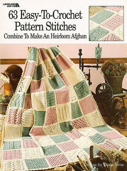 Leisure Arts 63 Easy-To-Crochet Pattern Stitches