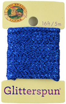 Lion Brand Sapphire Glitterspun Yarn (3 - Light)