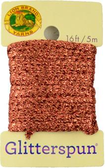 Lion Brand Copper Glitterspun Yarn (3 - Light)