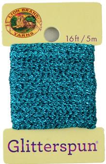 Lion Brand Turqoise Glitterspun Yarn (3 - Light)