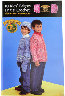 Lion Brand 10 Kids' Brights Knit and Crochet - Book