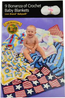 Lion Brand 9 Bonanza of Crochet Baby Blankets - Book