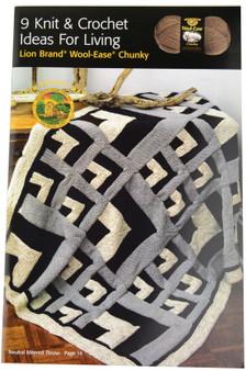 Lion Brand 9 Knit & Crochet Ideas for Living - Book