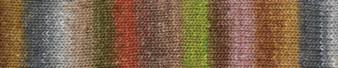 Noro #484 Brown, Light Green, Pink Silk Garden Sock Yarn (2 - Fine)