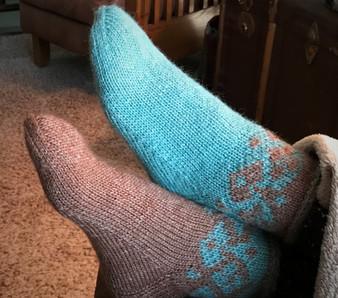 Housebound Slipper Socks - Downloadable Pattern
