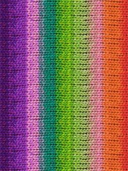 Noro #319 Green, Pruple, Pink, Orange, Kureyon Yarn (4 - Medium)