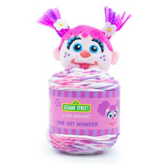 Lion Brand Abby Cadabby Sesame Street One Hat Wonder Yarn (4 - Medium)