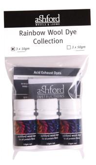 Ashford Rainbow Wool Dye Kit (10 g x 3 bottles)