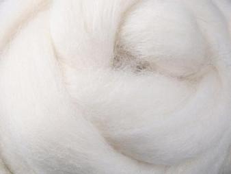 Ashford White - Corriedale Top (30 micron) - 1 kg
