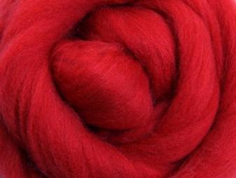 Ashford Scarlet - Merino Top (-22 micron) - 500 g