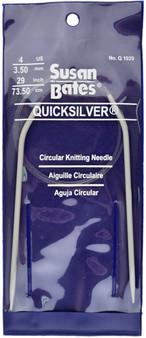 "Susan Bates Quicksilver 29"" Circular Knitting Needle (Size Us 4)"