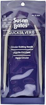 "Susan Bates Quicksilver 29"" Circular Knitting Needle (Size Us 10)"