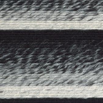 Lion Brand Cream/Black Scarfie Yarn (5 - Bulky)