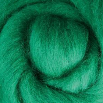 Felting Wool Green Felting Wool