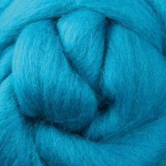 Felting Wool Turquoise Felting Wool