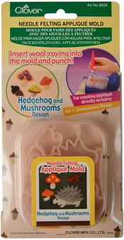 Clover Hedgehog & Mushrooms Needle Felting Mold