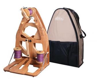 Ashford Joy Single Treadle Spinning Wheel 2 & Carry Bag