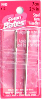 """Susan Bates 2-Pack 2.75"""" (7 cm) Steel Yarn Needles"""