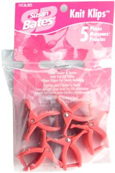 Susan Bates 5-Pack Knit Klips (Red)