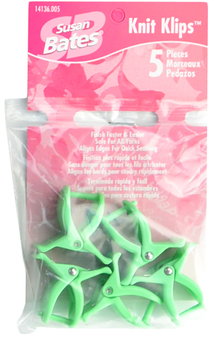 Susan Bates 5-Pack Knit Klips (Green)