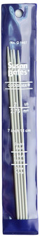 """Susan Bates Quicksilver 4-Pack 7"""" Double Point Knitting Needles (Size US 2 - 2.75 mm)"""