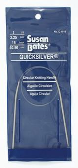 "Susan Bates Quicksilver 16"" Circular Knitting Needle (2.25 mm)"