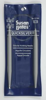 "Susan Bates Quicksilver 29"" Circular Knitting Needle (Size US  15)"