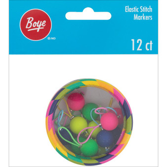 Boye Tools 12-Pack Elastic Stitch Markers