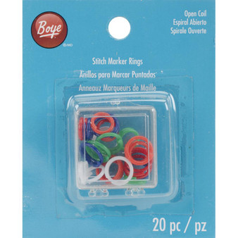 Boye Tools 20-Pack Stitch Marker Rings