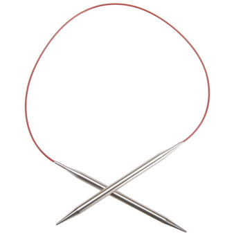"""ChiaoGoo Tools Knit Red Lace 24"""" Stainless Steel Circular Knitting Needles (Size US 1 - 2.25 mm)"""