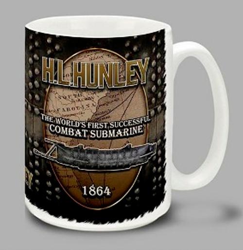 H.L. HUNLEY Steam Letters Mug