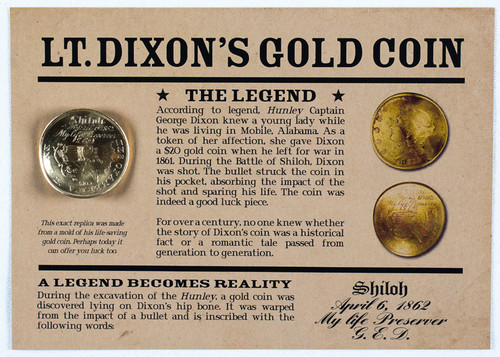 LT. Dixon's Gold Coin Replica