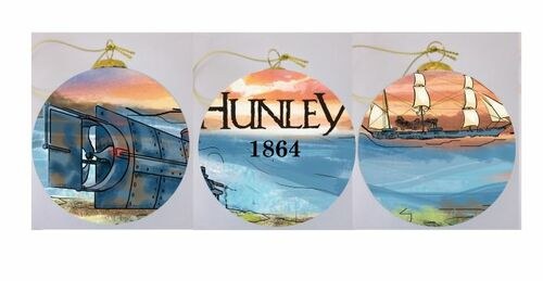 """Hand-painted """"Hunley 1864"""" Ornament - ON SALE!"""
