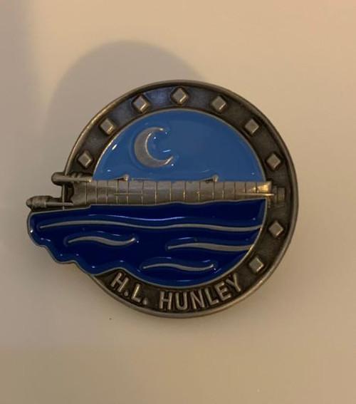 Hunley Enamel Lapel Pin