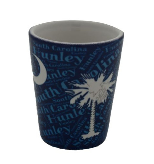 SC Palm and Crescent Blue Shot Glass (ON SALE!)