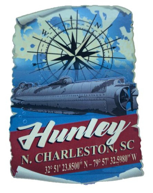 Hunley and Compass 2-D Magnet