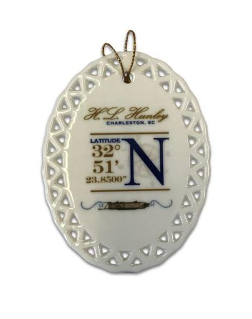 Hunley Coordinates Ornament