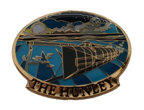 Hunley Cloisonné Lapel Pin