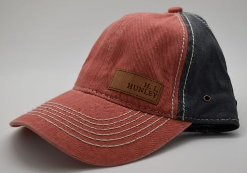 H.L. Hunley Orange and Navy Hat
