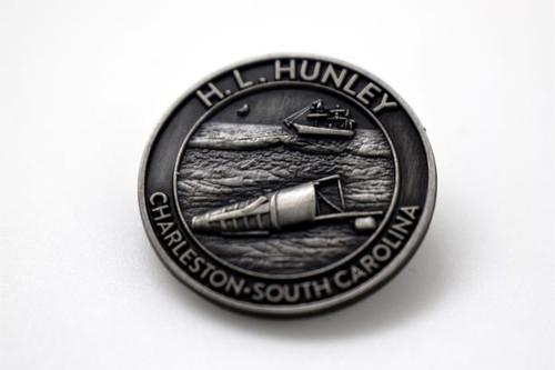 Hunley Pewter-Finish Magnet