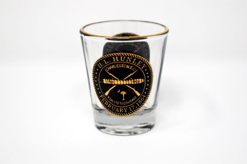 A Salute to Courage Shot Glass