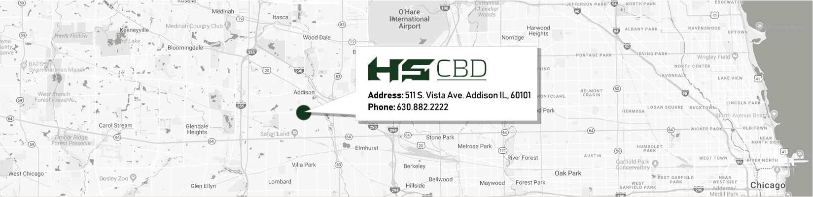 HSW CBD Contact Us - Location