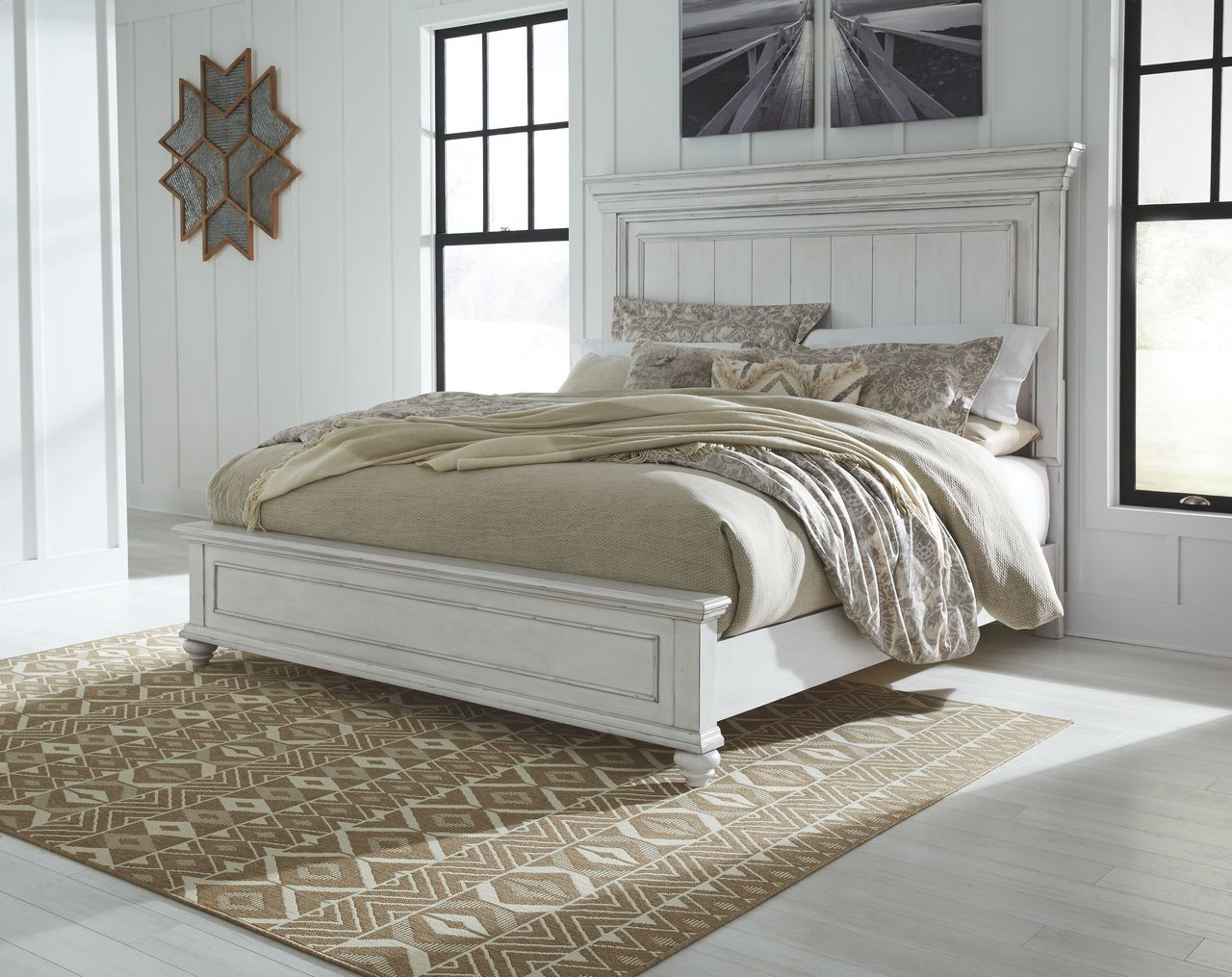 Picture of: The Kanwyn Whitewash Queen Panel Bed Available At Ritz Furniture Planet Serving Mississauga On