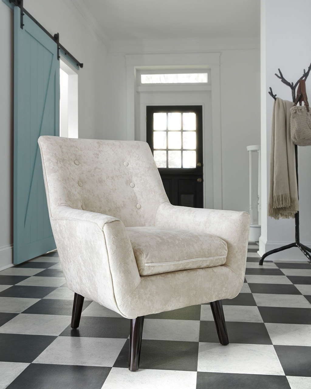 Admirable The Zossen Ivory Accent Chair Available At Ritz Furniture Bralicious Painted Fabric Chair Ideas Braliciousco