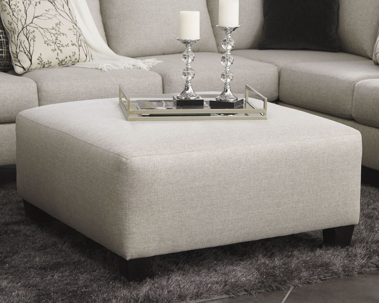 The Hallenberg Fog Oversized Accent Ottoman Available At Ritz Furniture Planet Serving Mississauga On