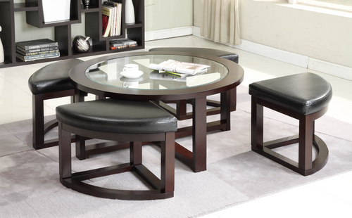 -Coffee Table with 4 stools - On Sale