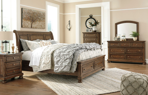 -Ashley B719 Queen Sleigh Bed with Drawers Only